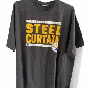 NFL Pittsburgh Steelers Gray Short T-Shirt 3X